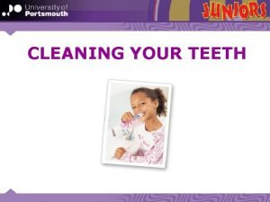 CLEANING YOUR TEETH TALK TO YOUR PARTNER When