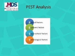 PEST Analysis Why a PEST PEST Analysis helps