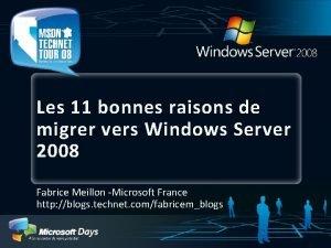 Les 11 bonnes raisons de migrer vers Windows