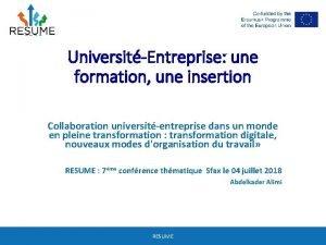 UniversitEntreprise une formation une insertion Collaboration universitentreprise dans