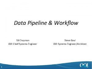 Data Pipeline Workflow Ed Chapman OOI Chief Systems