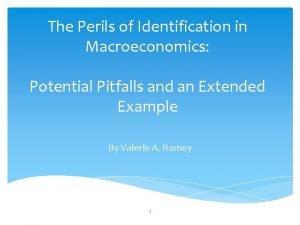 The Perils of Identification in Macroeconomics Potential Pitfalls
