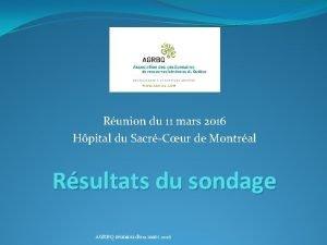 Runion du 11 mars 2016 Hpital du SacrCur
