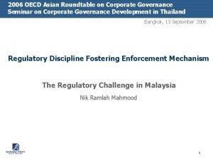 2006 OECD Asian Roundtable on Corporate Governance Seminar