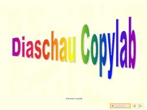 Diaschau Copylab bersicht bersicht Der Kopierer von Copylab