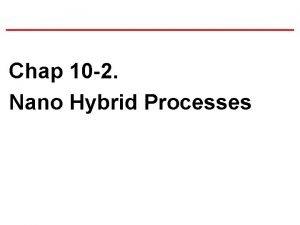 Chap 10 2 Nano Hybrid Processes Hybrid Manufacturing