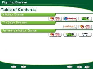 Fighting Disease Table of Contents Infectious Disease The