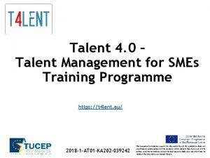 Talent 4 0 Talent Management for SMEs Training