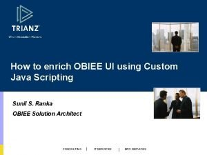 How to enrich OBIEE UI using Custom Java