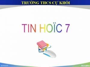 TRNG THCS C KHI Cu 1 Nu trong