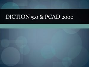 DICTION 5 0 PCAD 2000 DICTION 5 0