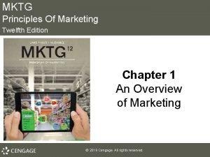 MKTG Principles Of Marketing Twelfth Edition Chapter 1