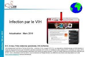 Infection VIH en 2015 Infection par le VIH
