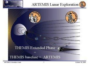 THEMIS ARTEMIS Lunar Exploration THEMIS Extended Phase THEMIS