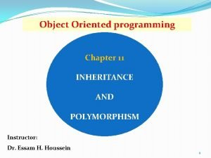 Object Oriented programming Chapter 11 INHERITANCE AND POLYMORPHISM