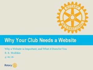 Why Your Club Needs a Website Why a