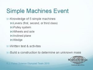 Simple Machines Event Knowledge of 5 simple machines