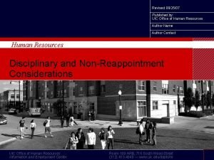 Revised 062507 UIC Human Resources Published by UIC