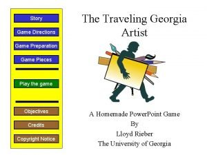Story Game Directions The Traveling Georgia Artist Game