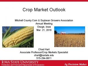 Crop Market Outlook Mitchell County Corn Soybean Growers