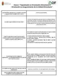 Anexo J Capacitacin en Orientacin Alimentaria y Orientacin