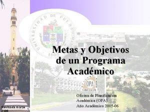 Metas y Objetivos de un Programa Acadmico Revisada