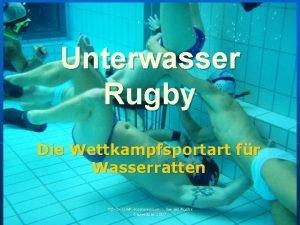 Unterwasser Rugby Die Wettkampfsportart fr Wasserratten TSV UWRKommission