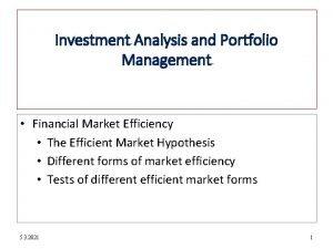 12 1 Investment Analysis and Portfolio Management Financial