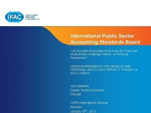International Public Sector Accounting Standards Board Can Accruals