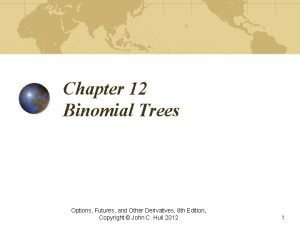 Chapter 12 Binomial Trees Options Futures and Other