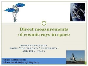 Direct measurements of cosmic rays in space ROBERTA