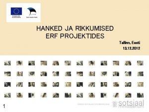 HANKED JA RIKKUMISED ERF PROJEKTIDES Tallinn Eesti 13