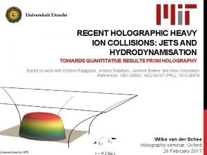 RECENT HOLOGRAPHIC HEAVY ION COLLISIONS JETS AND HYDRODYNAMISATION