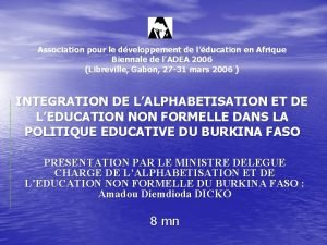 Association pour le dveloppement de lducation en Afrique