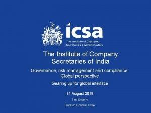 The Institute of Company Secretaries of India Governance
