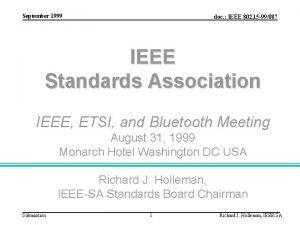 September 1999 doc IEEE 802 15 99087 IEEE