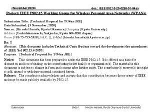 November 2020 doc IEEE 802 15 20 0295