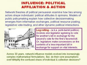 INFLUENCE POLITICAL AFFILIATION ACTION Network theories of political