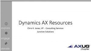 Dynamics AX Resources explore engage elevate Chris K