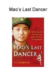 Maos Last Dancer Maos Last Dancer Autobiography Biography
