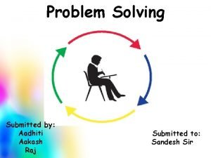 Problem Solving Submitted by Aadhiti Aakash Raj Submitted