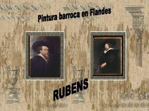Pintura flamenca Barroca La pintura en el aristocrtico