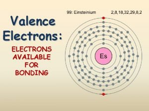 Valence Electrons ELECTRONS AVAILABLE FOR BONDING Ga Standards