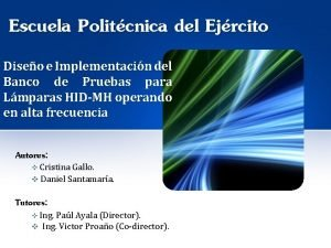 Escuela Politcnica del Ejrcito Diseo e Implementacin del