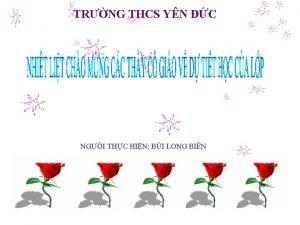 TRNG THCS YN C NGI THC HIN BI