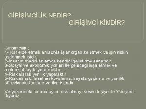 GRMCLK NEDR GRMC KMDR Giriimcilik 1 Kr elde