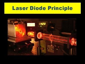 Laser Diode Principle Laser Diode Principle q Consider