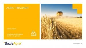 AGRO TRACKER Demo version Longitudinal agricultural tracker with