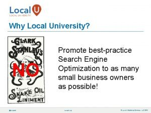 Why Local University NO localuniv Promote bestpractice Search
