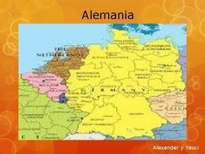 Alemania Alexander y Yauci El relieve de Alemania